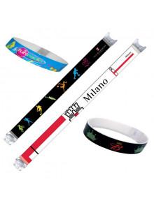 objet publicitaire - promenoch - Bracelet PVC Passtrap  - Lanyard & Tour de cou