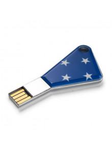 objet publicitaire - promenoch - Clé USB acier  - Clés USB Publicitaire