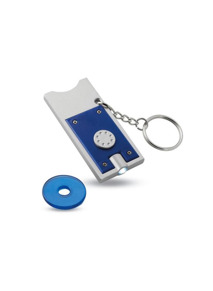 Porte-clés Led + Jeton  publicitaire