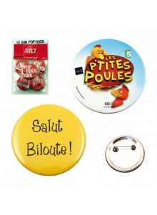 objet publicitaire - promenoch - Badge Métal Rond  - Badges personnalisés