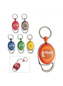 objet publicitaire - promenoch - Porte-badge Enrouleur Color  - Portes-badges personnalisables