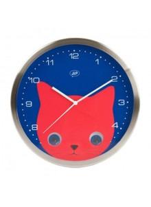 objet publicitaire - promenoch - Horloge Chat  - Décoration chambre enfant