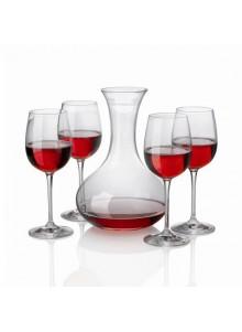 objet publicitaire - promenoch - Décanteur à vin + 4 Verres cristal  - Accessoires Vin Sommelier