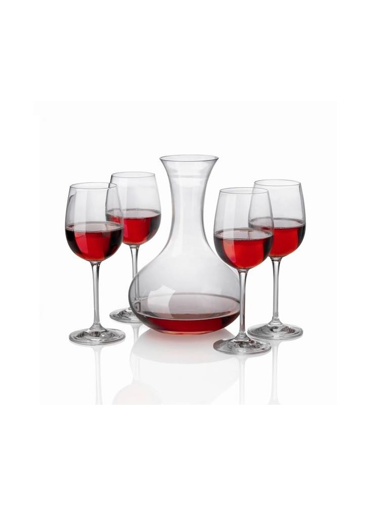 Décanteur à vin + 4 Verres cristal  publicitaire