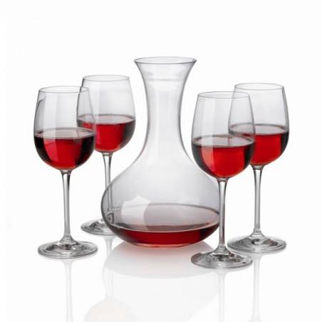 Décanteur à vin + 4 Verres cristal
