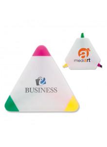 objet publicitaire - promenoch - Surligneur Triangle  - Surligneur & Marqueur