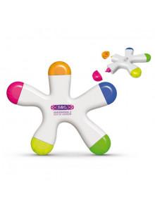 objet publicitaire - promenoch - Surligneur 5 Coul  - Surligneur & Marqueur