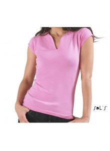 objet publicitaire - promenoch - Tee-shirt Mint  - Tee-shirt Femme M. Courtes