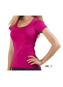 objet publicitaire - promenoch - Tee-shirt Moody Publicitaire  - Tee-shirt Femme M. Courtes