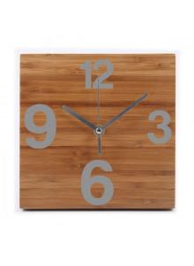 objet publicitaire - promenoch - Pendule Bambou Time  - Horloge Murale & Pendule