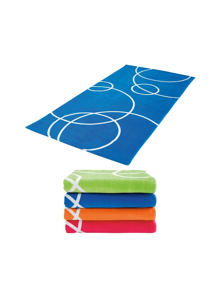 Grande serviette plage publicitaire