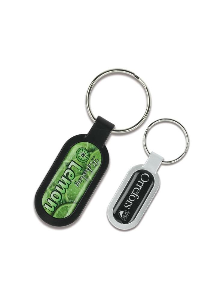 Porte-clés Ovale  publicitaire