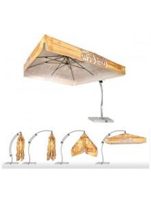 objet publicitaire - promenoch - Parasol Carré Cloé  - Parasol Publicitaire