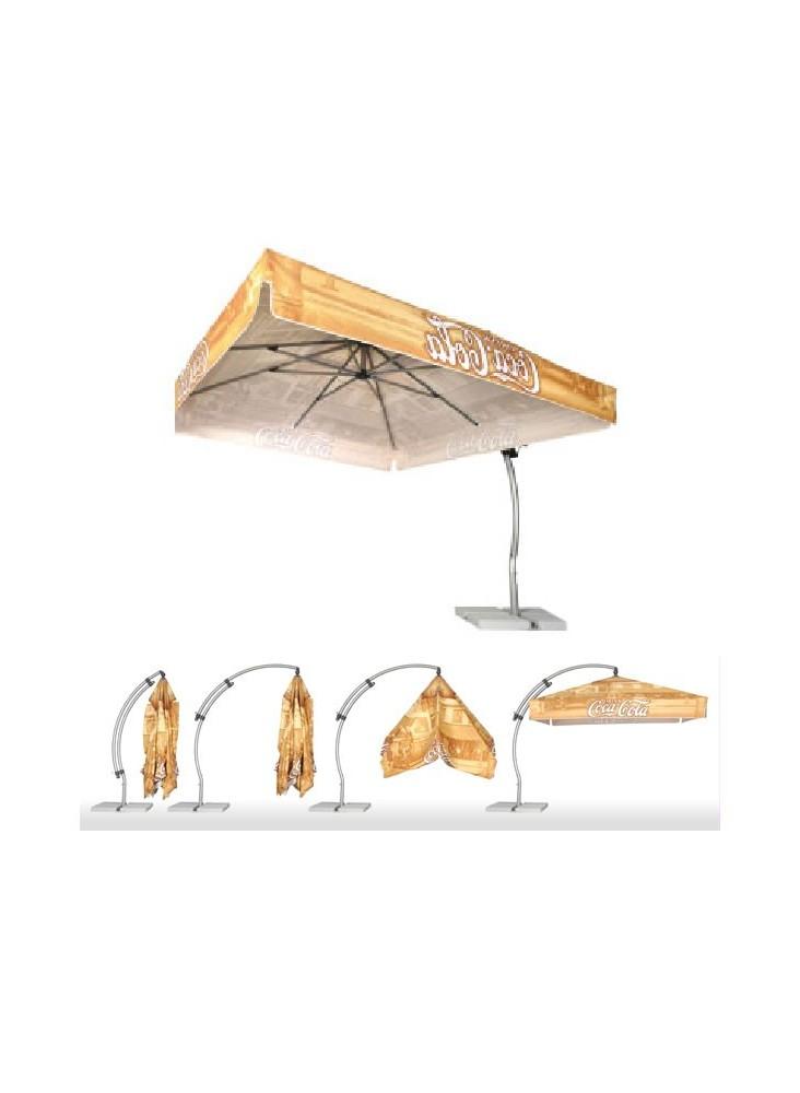 Parasol Carré Cloé  publicitaire