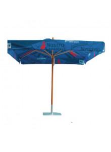 objet publicitaire - promenoch - Parasol Bois Carré publicitaire  - Parasol Publicitaire