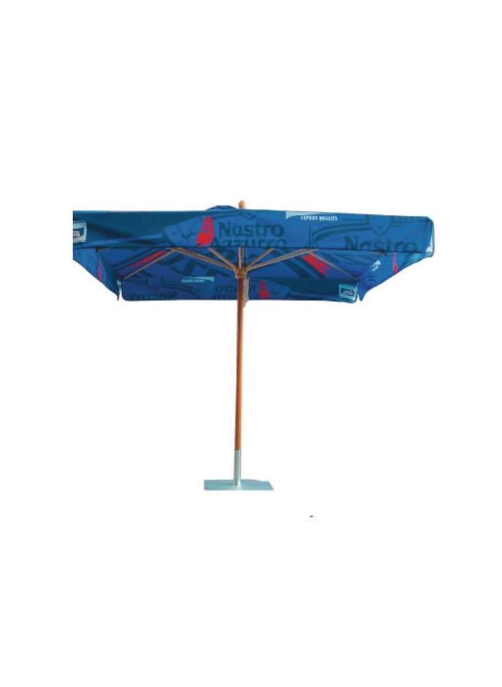 Parasol Bois Carré publicitaire