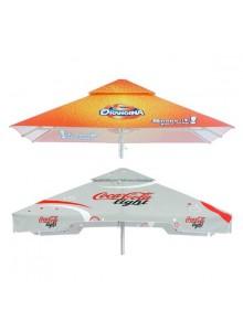 objet publicitaire - promenoch - Grand Parasol Carré publicitaire  - Parasol Publicitaire