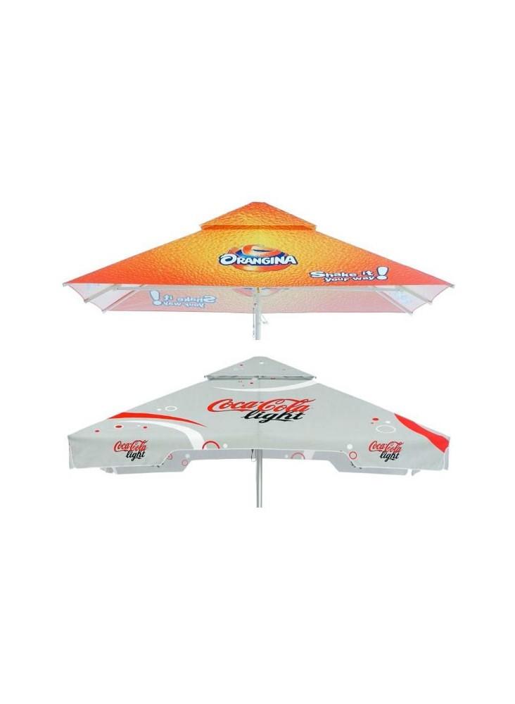Grand Parasol Carré publicitaire