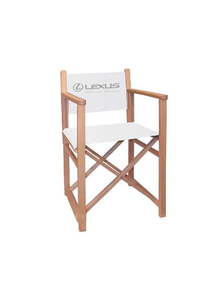 Chaise en bois publicitaire