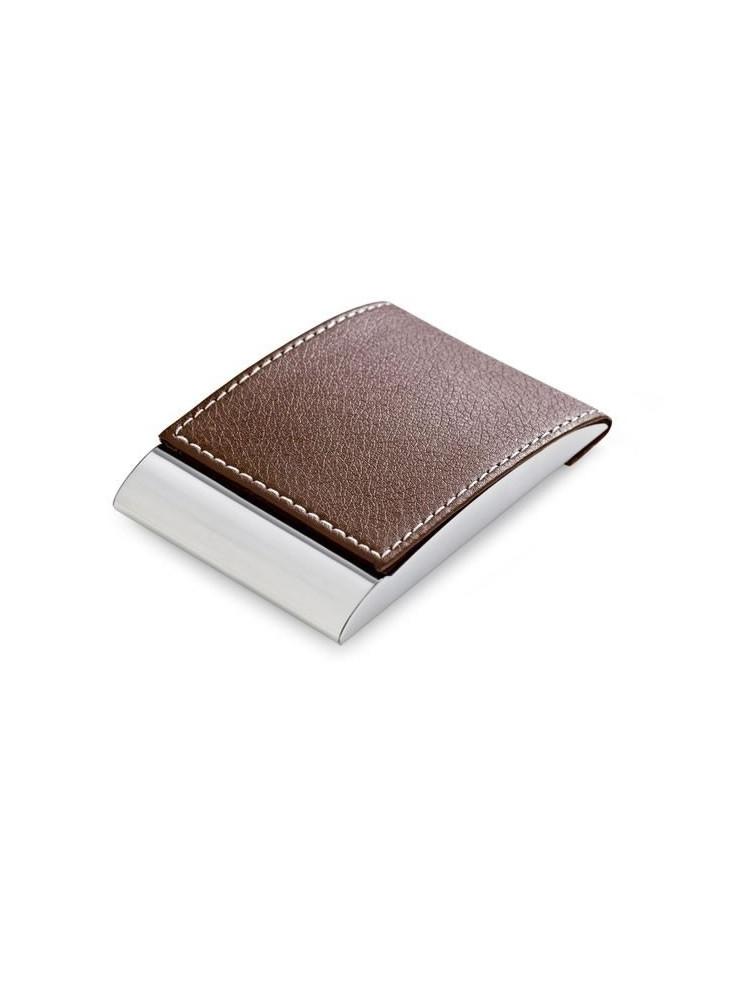 Porte-carte de visite personnalisable en simili cuir  publicitaire