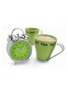 objet publicitaire - promenoch - Réveil + Tasses Café  - Réveil Personnalisé