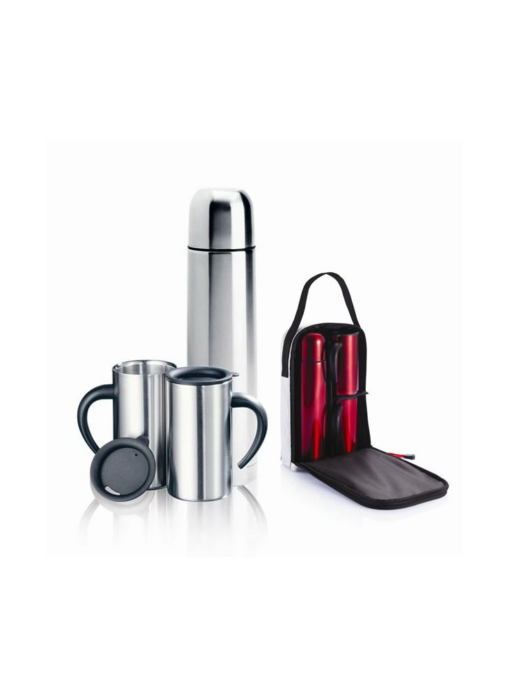Thermos + 2 Mugs + Sac  publicitaire