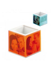 objet publicitaire - promenoch - Pot à Crayons Cube  - Pot à Crayons Personnalisé