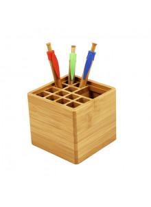 objet publicitaire - promenoch - Pot à Crayons Bambou  - Pot à Crayons Personnalisé