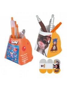 objet publicitaire - promenoch - Pot à Crayons Slice  - Pot à Crayons Personnalisé