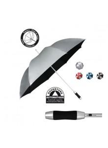 objet publicitaire - promenoch - Parapluie Millenium Silver Publicitaire  - Parapluie manche droit