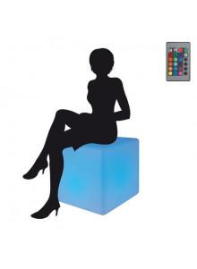 objet publicitaire - promenoch - Cube Lumineux Géant  - Lampe Personnalisée