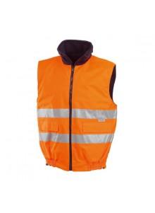 objet publicitaire - promenoch - Body-warmer Orange Haute Visibilité  - Vêtement Haute Visibilité