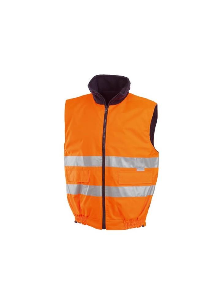 Body-warmer Orange Haute Visibilité publicitaire