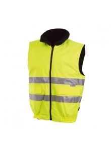 objet publicitaire - promenoch - Body-warmer Jaune Haute Visibilité  - Vêtement Haute Visibilité