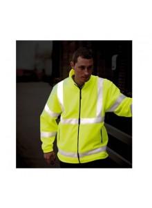 objet publicitaire - promenoch - Veste Polaire Haute Visibilité Personnalisable  - Vêtement Haute Visibilité