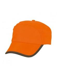 objet publicitaire - promenoch - Casquette Orange Fluo  - Vêtement Haute Visibilité