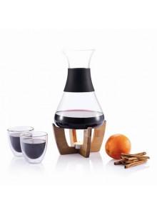 objet publicitaire - promenoch - Set Vin Chaud + 2 Verres  - Accessoires Vin Sommelier
