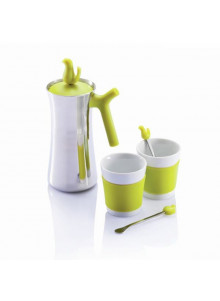 objet publicitaire - promenoch - Cafetière + 2 Tasses  - Ustensiles de Cuisine