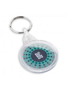 objet publicitaire - promenoch - Porte-clés Rond Plastique  - Porte-clés Publicitaire