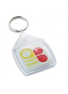 objet publicitaire - promenoch - Porte-clés Carré Plastique  - Porte-clés Publicitaire