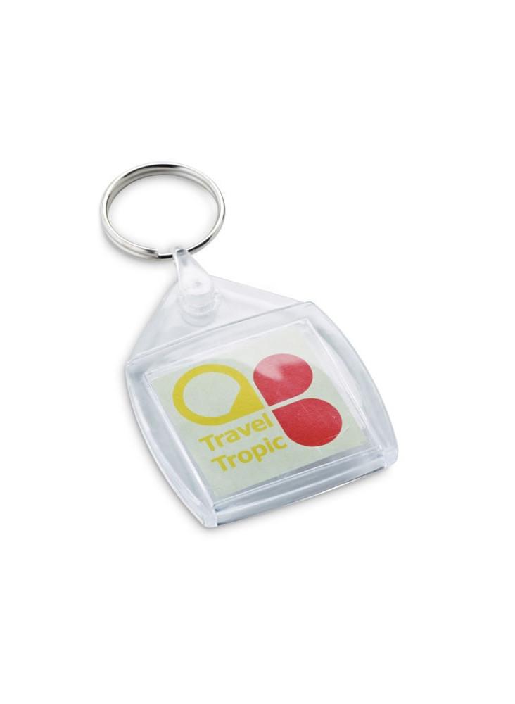 Porte-clés Carré Plastique  publicitaire