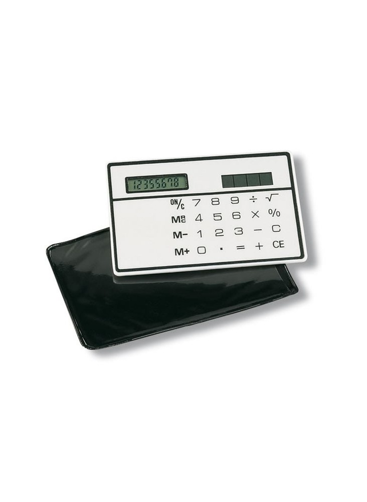 Calculatrice de poche solaire  publicitaire