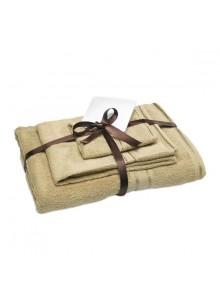 objet publicitaire - promenoch - 3 Serviettes Eponges  - Coffret Cadeau Beauté
