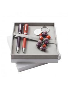 objet publicitaire - promenoch - Parure 2 Stylos & Porte-clés Cacharel  - Cadeaux d'entreprises