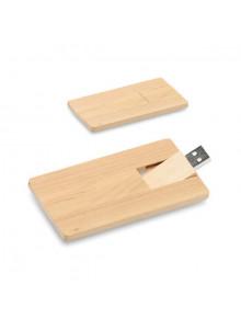 objet publicitaire - promenoch - Clé USB Bois Carte de Crédit  - Clés USB Publicitaire