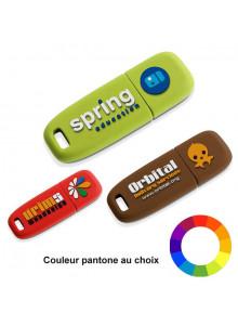 objet publicitaire - promenoch - Clé USB Logo Relief 3D  - Clés USB Publicitaire