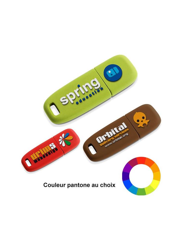Clé USB Logo Relief 3D  publicitaire