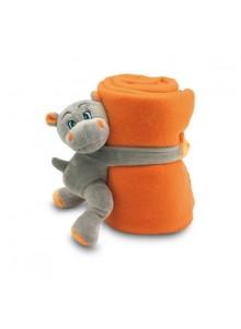 objet publicitaire - promenoch - Plaid Polaire Enfant Hippopotame  - Couverture Plaid Polaire