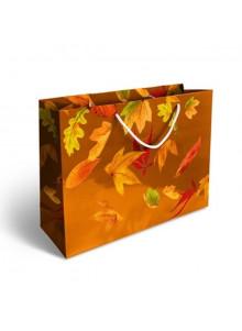 objet publicitaire - promenoch - Grand Sac Papier Luxe Imp Quadri  - Sac Papier Personnalisé