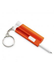 objet publicitaire - promenoch - Porte-clés avec stylo à bille LED  - Porte-clés Publicitaire